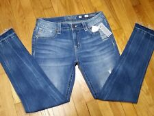 Miss Me Skinny Jeans Size 30 Mid Rise Medium Wash Released Hem New With Tags
