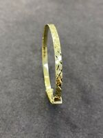 SOLID GENUINE 9CT YELLOW GOLD 3.5MM BABY BANGLE FREE ENGRAVING NEW