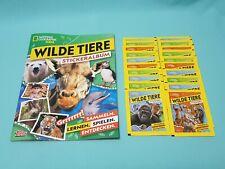 National Geographic Topps Wilde Tiere Animals Sticker Sammelalbum + 20 Tüten