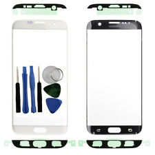 For Samsung Galaxy S7 Edge G935F Front Outer Glass Screen White + Adhesive Tools