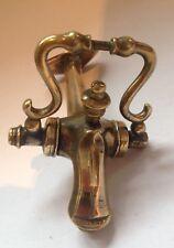 Antico birra o acqua del rubinetto in ottone con piastra di rame-architettonico Salvage