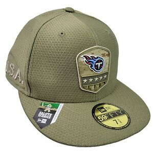 New Era 59Fifty Hat Tennessee Titans NFL 2019 Salute To Service Cap Fitted 7 3/8