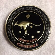 AUTHENTIC USMC SECURITY GUARD DETACHMENT CANBERRA AUSTRALIA REAL CHALLENGE COIN