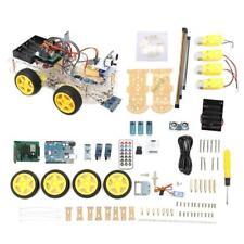 4wd Robot Car Kit UNO Ble4 IR Autonomous Avoid Line Follow L298n for Arduino