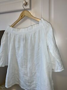 PRIMARK  Off The Shoulder Gypsy Top White  SIZE 14 worn Once
