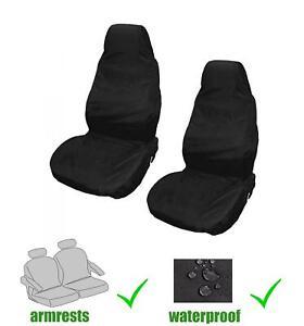 Universal Front Car/Van Seat Covers Protectors Black Waterproof Heavy Duty New