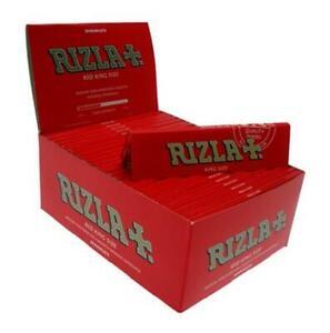 RIZLA RED KING SIZE KS SLIM GENUINE CIGARETTE ROLLING PAPERS