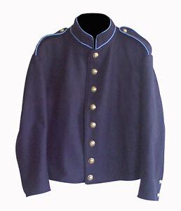 Civil war Union Infantry Shell jacket with shoulder straps & Sky Trim - All Size