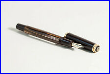 1989 PELIKAN M400 in Brown&Gold Kolbenfüller - 14C GOLD M nib - W.Germany