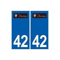 42 Perreux logo ville autocollant plaque stickers département droits