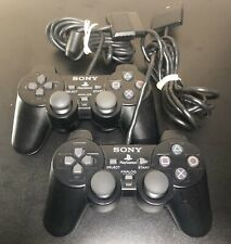 Two Sony Playstation 2 PS2 Official OEM DualShock 2 Controller Good Tested