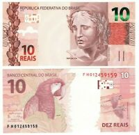 BRAZIL 10 Reais ND (2010) P-254 UNC Banknote Paper Money