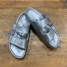 Birkenstock Unisex Arizona Essentials EVA Sandals Silver 39 (9) Men's 7 EUC