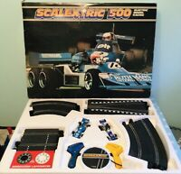 VINTAGE CLASSIC SCALEXTRIC 500 SLOT CAR RACING SET TYRRELL & 6 WHEELED MARCH