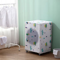 Washing Machine Cover Waterproof Transparent Zippered Dust Cover Universal PEVSE