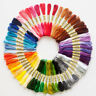 50-200pcs/set Cross Stitch Cotton Embroidery Thread Floss Sewing Skeins Craft A+