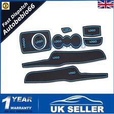 Blue For Ford Fiesta MK VI 08~14 Gate slot mats Accessories 3D Rubber Mat 8pcs