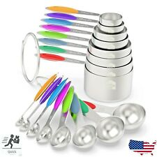 16 Pc Wildone Stainless Steel Measuring Cups Spoons Set Kitchen USA SELLER