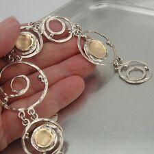 Hadar Designers Handmade 9k Yellow Gold 925 Silver Link Bracelet (I b172) SALE