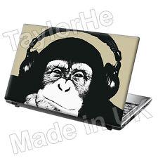 Ordinateur portable 15,6 pouces Peau Autocollant Decal casque Chimpanzé Drôle Classique 303