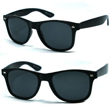 Retro Classic Square Frame Polorized Sunglasses - Black WF08