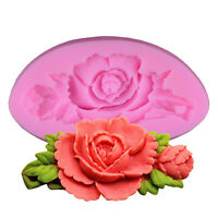 Rose Flower 3D Silicone Fondant Cake Mold Chocolate Baking Sugarcraft Mould Tool