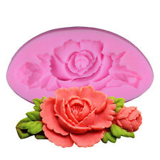 3D Rose Flowers Fondant Silicone Mold Sugarcraft Cake Candy Chocolate Mould Tool