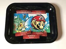 "Rolling Tray ""Super Mario"" 11.5"" x 14"" 5 Elements  King Size Papers Nintnedo NES"