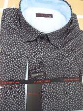 Camicie casual e maglie da uomo grigie in cotone con colletto