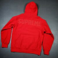 100% Authentic Supreme Studded Hooded Sweatshirt Hoodie Red L Mens