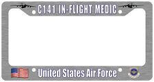C-141 Starlifter In-Flight Medic License Plate Frame