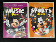 Walt Disneys Classic Cartoon Favorites Vol 5 6 Extreme Sports Music Fun DVD Lot