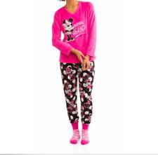 5aa14c05e9a63 Disney Pink Minnie Mouse Fleece Pajama Gift Set 3 Piece With Socks Size  Medium