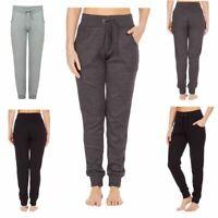 Womens Plain Loungewear Elasticated Waist Fleece Bottoms Joggers Jogging Trouser