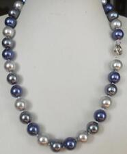 AAA + 12MM Blue graue South Sea Shell Perlenkette 54cm