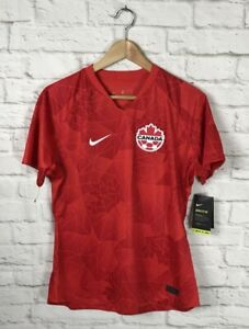 NEW Nike Womens Canada FC Soccer Home Stadium Red Jersey Size XL Slim Fit