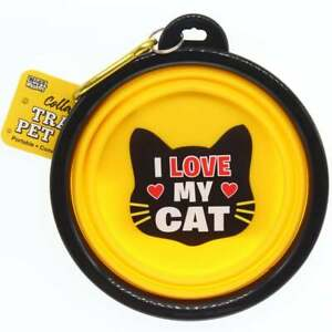 Wags & Whiskers Travel Pet Bowl - I Love My Cat 00204100002