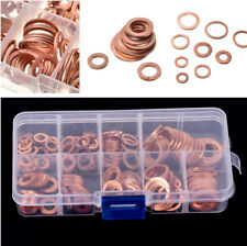 200x Car M5-M14 Solid Copper Sump Plug Washer Set Oil Seal Hardware Accessories