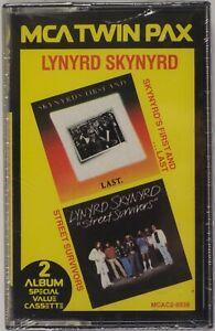 LYNYRD SKYNYRD: First and Last / Street Survivors MCA Twin Pax Cassette Tape NEW