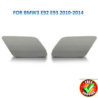 1Pair Headlight Washer Cover Cap For BMW E92 E93 LCI 2010 - 2013 Left+Right