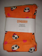 NWT GYMBOREE ORANGE PANDA ACADEMY LEGGINGS 12-18 MO
