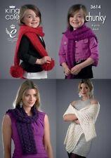 Chunky Hats/Scarfs/Mittens Crocheting & Knitting Patterns