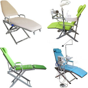 Dental Mobile Chair Folding Chair +Rechargeable LED Light+Plastic spittoon
