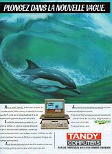 Publicité 1986  TANDY COMPUTERS le 1000 EX compatible PC