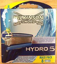 Wilkinson Sword Hydro 5 Genuino para Hombre de los cartuchos de recarga Paquete de 8 cuchillas de afeitar en Caja