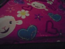 "Disney's Doc McStuffins Plush Blanket Throw Northwest Company 37""x53""  104"