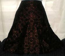 BLACK BRONZE GOLD RING METALLIC RING ANN TAYLOR Skirt LINED VERY SOFT SIZE 0