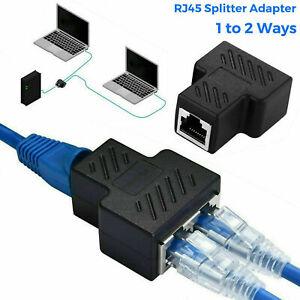 RJ45 Y Verteiler Adapter Splitter Netzwerk LAN Kabel Doppler 1 - 2 Dual Port DE
