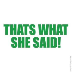That's What She Said Decal Sticker Choose Color + Size #1811