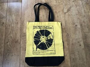 United colors of Benetton yellow record music shopper bag